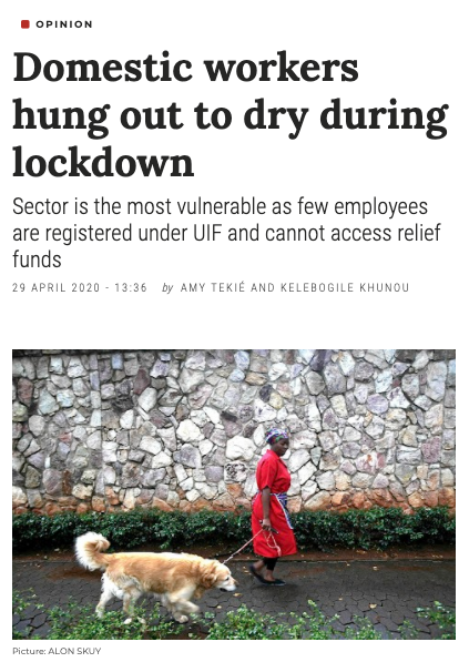 Domestic workers hung out to dry op ed