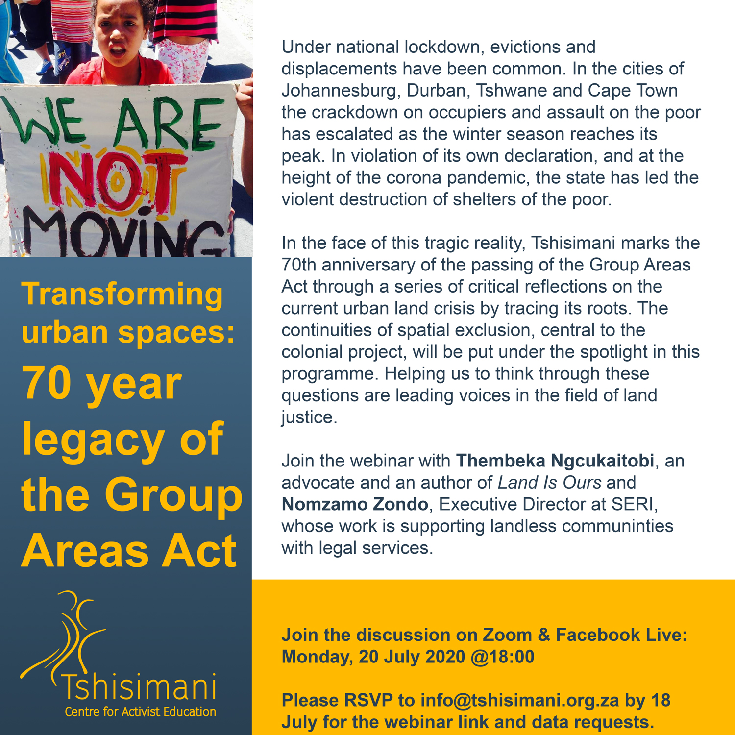 Tshisimani Group Areas Act